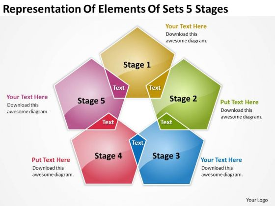 Representation Of Elements Sets 5 Stages Business Plan Example PowerPoint Templates