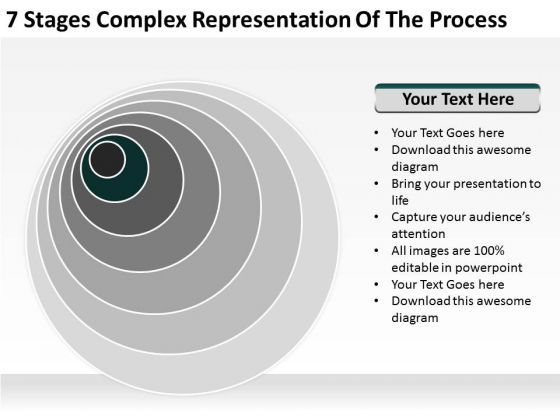 Representation Of The Process Ppt Small Business Sample Plan PowerPoint Templates
