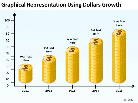 Representation Using Dollars Growth Examples Of Business Plan Outline PowerPoint Slides