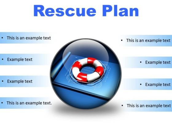 Rescue Plan Metaphor PowerPoint Presentation Slides C