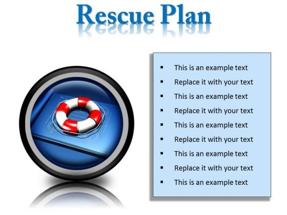 Rescue Plan Metaphor PowerPoint Presentation Slides Cc