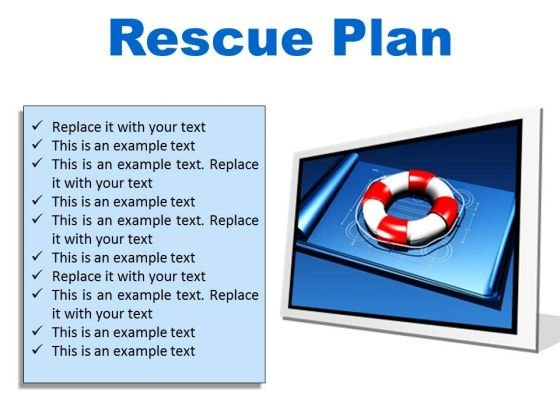 Rescue Plan Metaphor PowerPoint Presentation Slides F