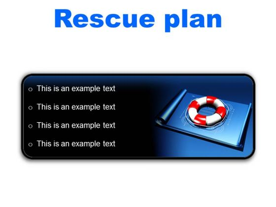 Rescue Plan Metaphor PowerPoint Presentation Slides R