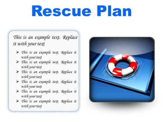 Rescue Plan Metaphor PowerPoint Presentation Slides S