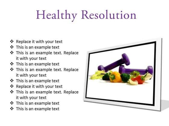 Resolution Health PowerPoint Presentation Slides F