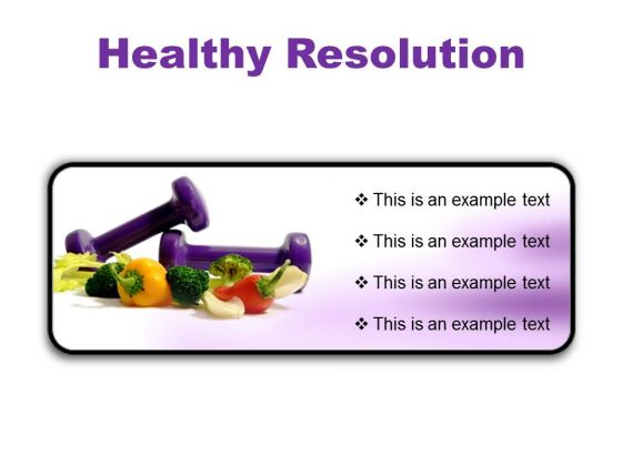 Resolution Health PowerPoint Presentation Slides R
