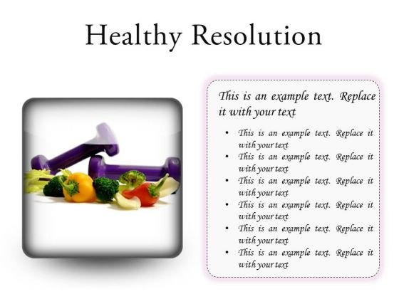 Resolution Health PowerPoint Presentation Slides S