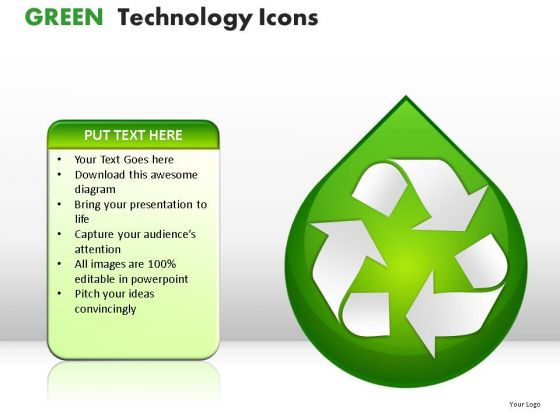 Resource Green Technology Icons PowerPoint Slides And Ppt Diagram Templates