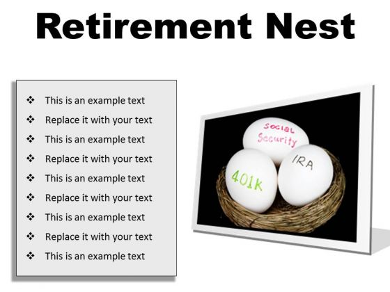 Retirement Nest Future PowerPoint Presentation Slides F