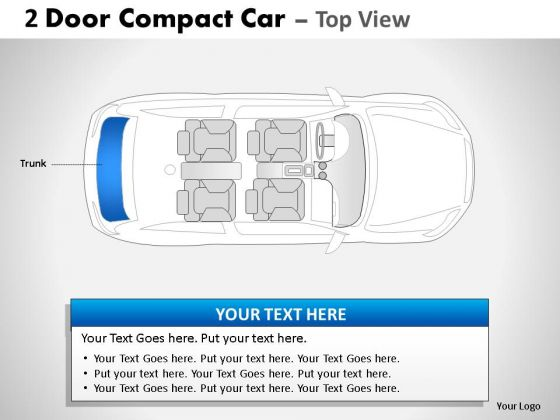 Revival 2 Door Blue Car Top PowerPoint Slides And Ppt Diagram Templates