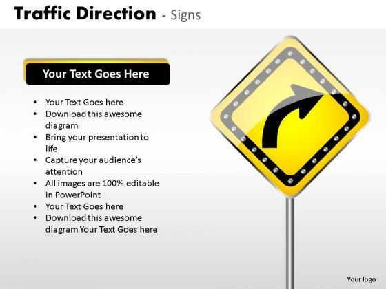 Right Sign Traffic Direction PowerPoint Slides And Ppt Diagram Templates