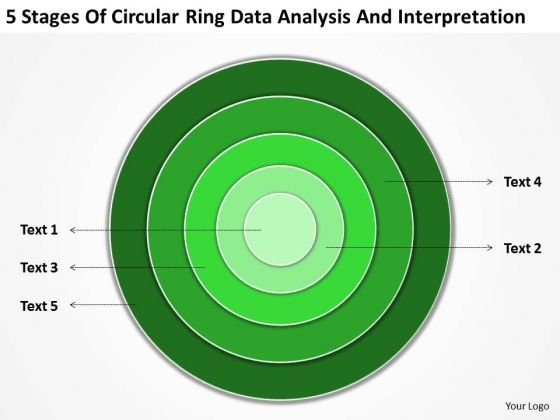Ring Data Analysis And Interpretation Business Plan Template PowerPoint Templates