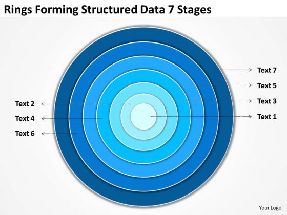 Rings Forming Structured Data 7 Stages Step By Business Plan Template PowerPoint Slides