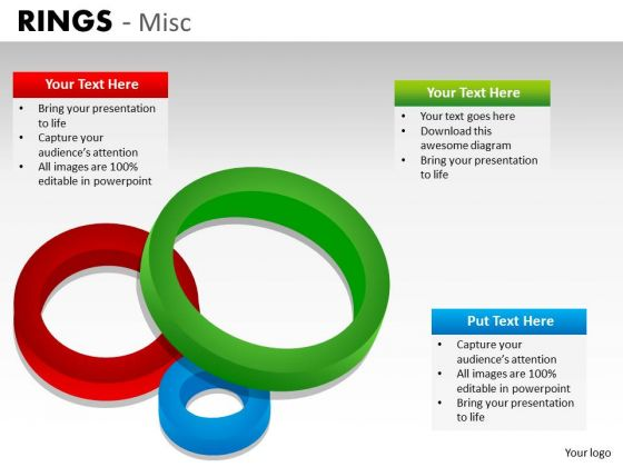 Rings Venn Diagram PowerPoint Slides And Ppt Diagram Templates