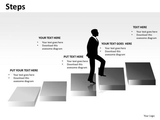 Rise Steps PowerPoint Slides And Ppt Diagram Templates