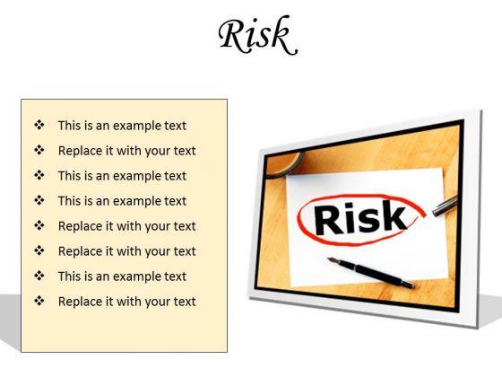 Risk Business PowerPoint Presentation Slides F