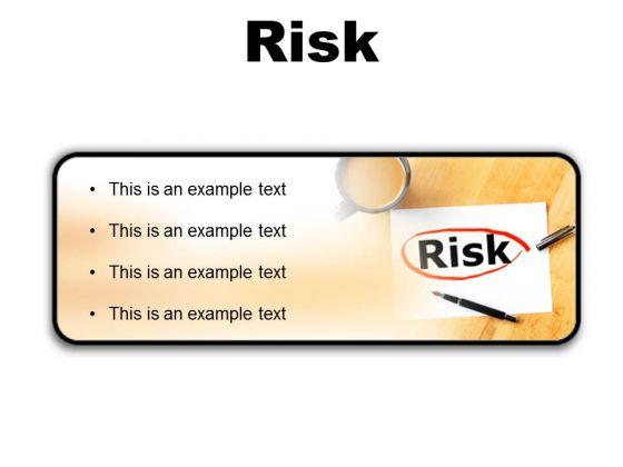 Risk Business PowerPoint Presentation Slides R