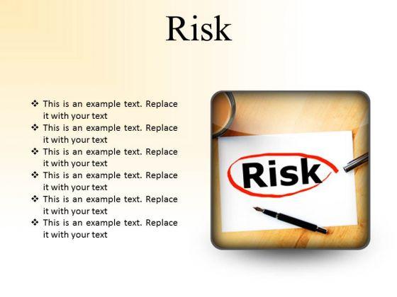 Risk Business PowerPoint Presentation Slides S
