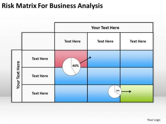 Risk Matrix For Business Analysis Ppt Plan Software Download PowerPoint Slides