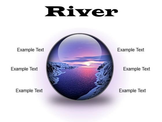 River Sunset PowerPoint Presentation Slides C