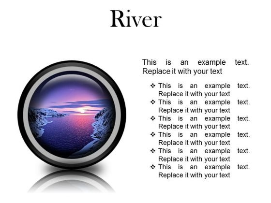 River Sunset PowerPoint Presentation Slides Cc