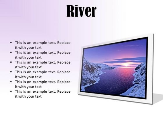 River Sunset PowerPoint Presentation Slides F