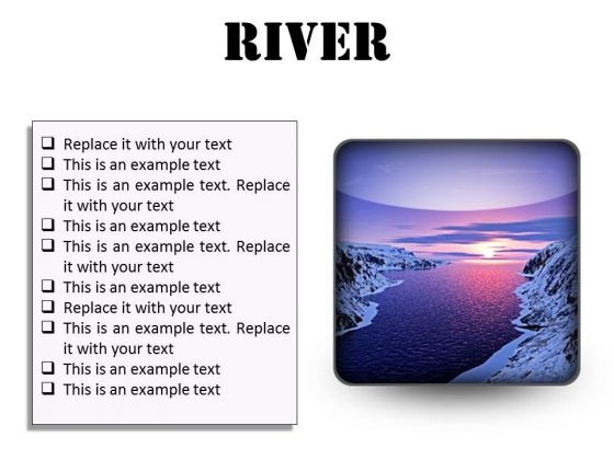 River Sunset PowerPoint Presentation Slides S