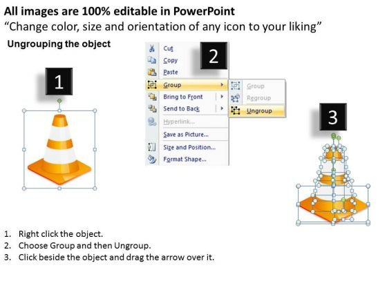 road_cones_illustrating_year_wise_target_goal_aim_powerpoint_templates_ppt_slides_graphics_2