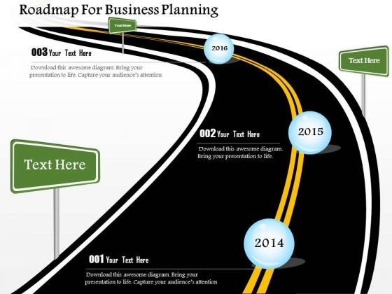 Roadmap For Business Planning PowerPoint Template