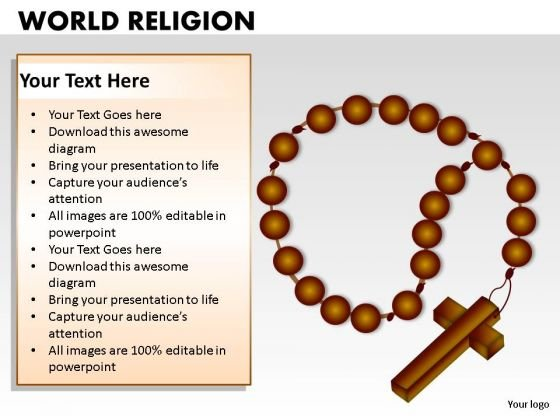 Rosary Beads Worship PowerPoint Slides And Cross PowerPoint Templates