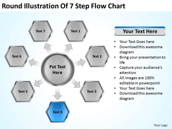 Round illustration of 7 step flow chart how do make business plan round illustration of 7 step flow chart how do make business plan powerpoint templates powerpoint templates wajeb Image collections