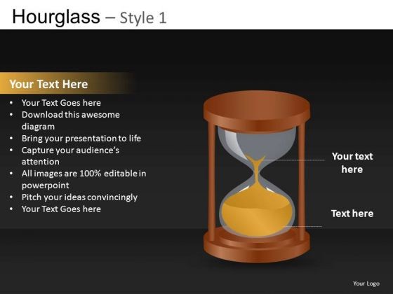 Running Out Of Time Hourglass PowerPoint Ppt Templates