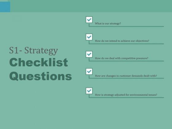 S1_Strategy_Checklist_Questions_Ppt_PowerPoint_Presentation_Slides_Templates_Slide_1
