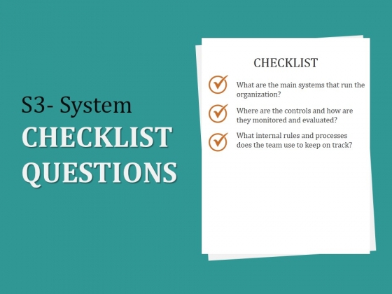 S3 System Checklist Questions Ppt PowerPoint Presentation Infographic Template Graphic Images
