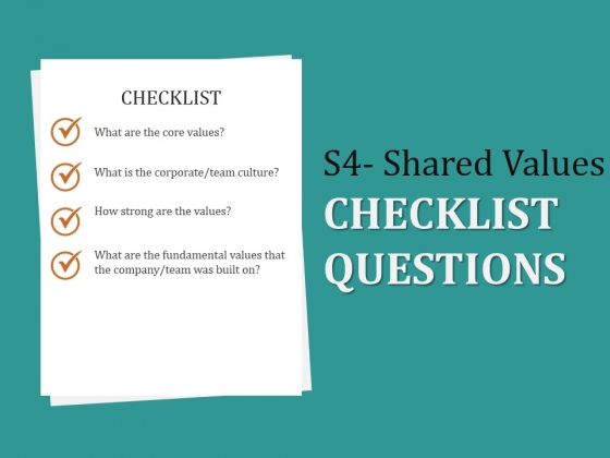 S4 Shared Values Checklist Questions Ppt PowerPoint Presentation Layouts Influencers