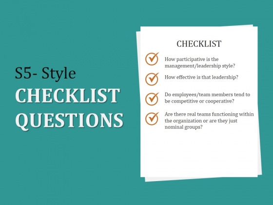 S5_Style_Checklist_Questions_Ppt_PowerPoint_Presentation_Show_Structure_Slide_1