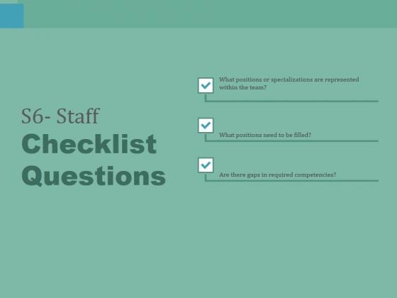 S6 Staff Checklist Questions Ppt PowerPoint Presentation Slides Portrait