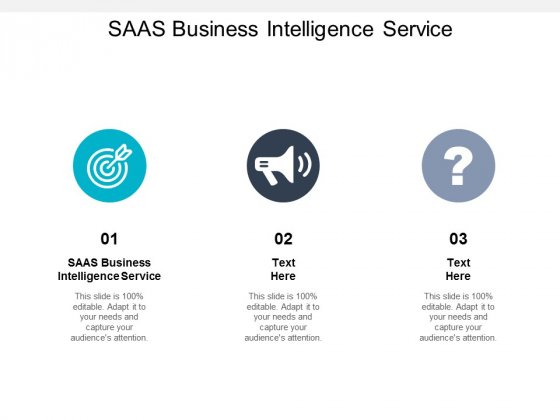 SAAS Business Intelligence Service Ppt PowerPoint Presentation Infographic Template Example Cpb