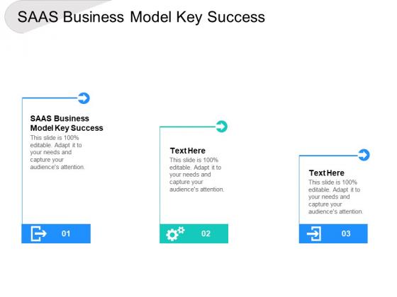 SAAS Business Model Key Success Ppt PowerPoint Presentation Layouts Smartart Cpb