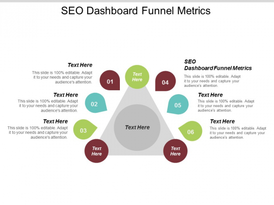 SEO Dashboard Funnel Metrics Ppt PowerPoint Presentation Visual Aids Layouts Cpb