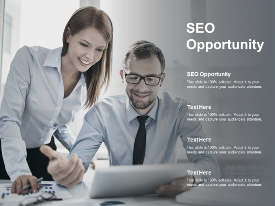SEO Opportunity Ppt PowerPoint Presentation Gallery Background Designs Cpb