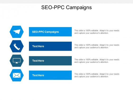 SEO PPC Campaigns Ppt PowerPoint Presentation Infographic Template Graphics Cpb