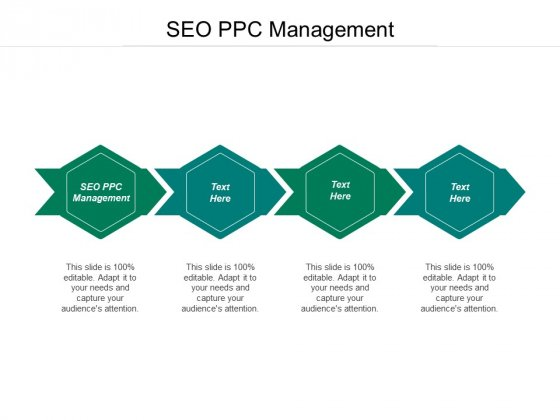 SEO PPC Management Ppt PowerPoint Presentation Icon Shapes Cpb