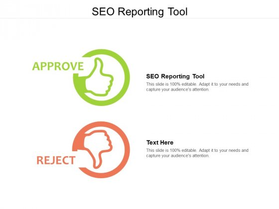 SEO Reporting Tool Ppt PowerPoint Presentation File Structure Cpb