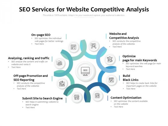 SEO Services For Website Competitive Analysis Ppt PowerPoint Presentation Icon Brochure
