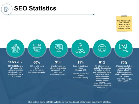 SEO Statistics Technology Ppt PowerPoint Presentation Show File Formats