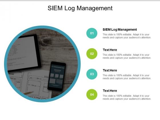 SIEM Log Management Ppt PowerPoint Presentation Summary Deck Cpb
