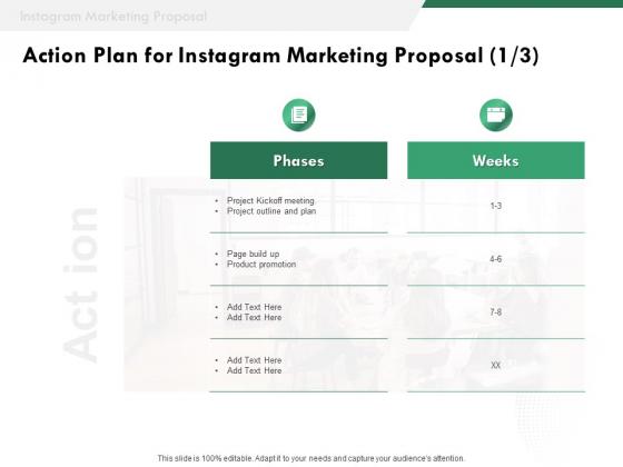 SMM Action Plan For Instagram Marketing Proposal Ppt Infographic Template Slides PDF