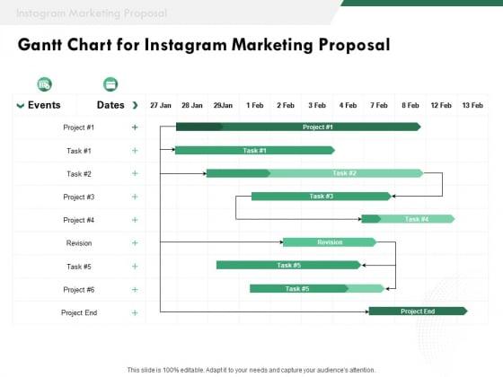 SMM Gantt Chart For Instagram Marketing Proposal Ppt Professional Backgrounds PDF