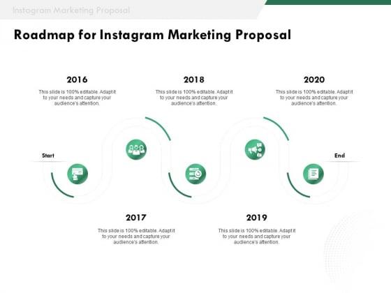SMM Roadmap For Instagram Marketing Proposal Ppt Portfolio Example Topics PDF